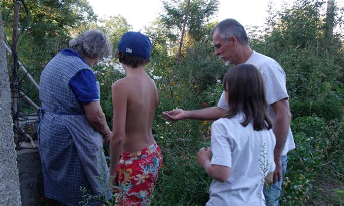 Des enfants découvrent la ferme du Gazenas