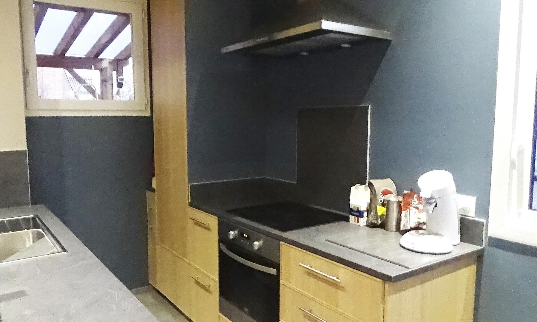 La cuisine de la salle disponible à la location